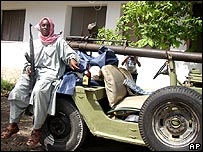 Islamist fighter in Somalia