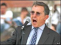 El presidente de Colombia, �lvaro Uribe.
