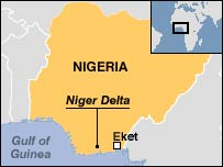 Map of the Nigeria Delta