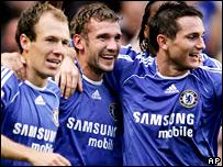 Arjen Robben, Andriy Shevchenko and Frank Lampard