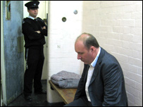 Mark Oaten in a prison cell