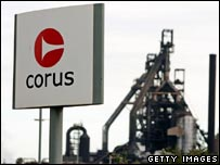 The Corus plant in Port Talbot, south Wales