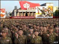 Rally on Friday in North Korea in support of nuclear test