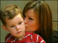 Paula Smith with son Jordan