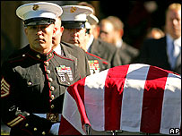 Funeral for US Marine