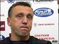 Hearts head coach Valdas Ivanauskas