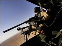 A US marine flies over Iraq (file image)