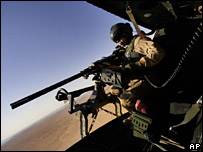 A US marine flies over Iraq (file image)