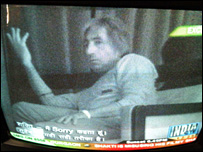 India TV grab of a sting of Bollywood actor Shakti Kapoor