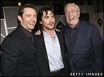 Hugh Jackman, Christian Bale and Michael Caine