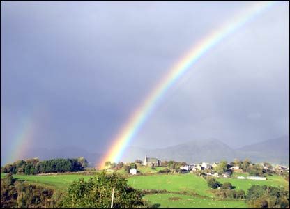 Rainbow over Llan Ffestiniog, sent in by Sion Ephraim