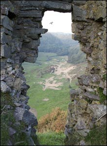 The view from Pennard Castle in Gower looking down to the Three Cliff Valley (Paul Grace)