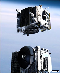 The Stereo spacecraft at separation (Nasa)