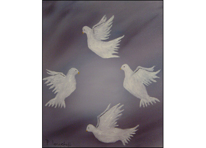 Picture of Doves by Peter Longstaff
