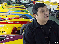 Yu Zhifei, sacked as general manager of Shanghai International Circuit (2004 file photo)