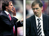 Middlesbrough boss Gareth Southgate and Newcastle counterpart Glenn Roeder
