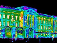 Buckingham Palace seen using an infra-red camera to detect heat emissions Picture: InfraRed Thermography