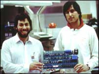 Steve Wozniak and Steve Jobs, Apple