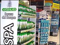 Cosméticos basados en yerbas de Totonicapán en estanterías de Wal-Mart