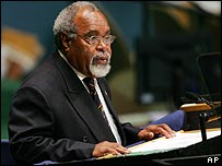 Michael Somare, Prime Minister of Papua New Guinea, in September 2006