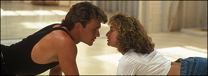 Patrick Swayze and Jennifer Grey 