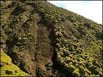 Landslides on Macquarie Island