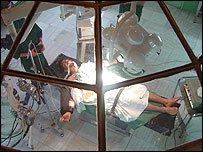 Mehrdad in the operating theatre