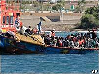 Boat arriving
