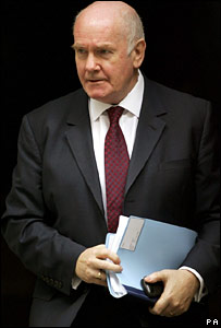 John Reid leaves Downing Street