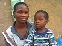 Nkhosibona and his mother