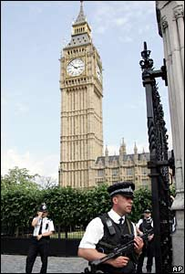 Police at the Houses of Parliament
