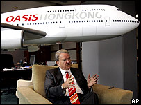 Oasis Airlines' Chief Executive Stephen Miller