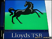 Lloyds TSB sign