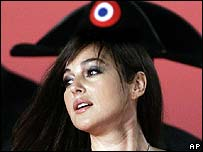 Monica Bellucci at the premiere of N.: Napoleon & Me