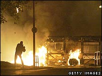 Rioting in Toulouse in November 2005