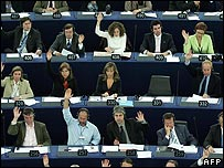 MEPs vote on the Spanish peace process