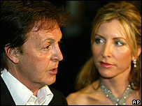 Sir Paul McCartney and Heather Mills McCartney