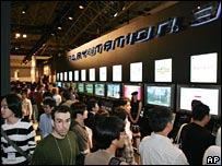 Gamers at a Sony PlayStation 3 stand