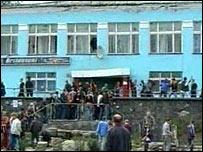 The restaurant in Kondopoga where the riot started