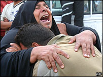 Mother of one of four people killed in raid on Sadr City, 25 Oct