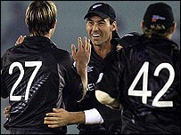 Shane Bond took three wickets as New Zealand eased to victory