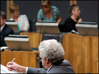 Rhodri Morgan in the Senedd