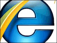 Internet Explorer 7 logo, Microsoft