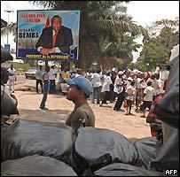 Jean-Pierre Bemba poster in Kinshasa