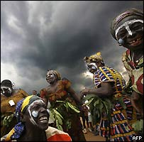 Kabila supporters in Bukavu