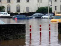 Cars in Dingwall Police Station car park