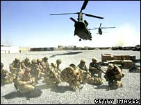British Nato troops in Helmand province (file photo: March 2006)