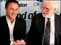 Leeds boss Dennis Wise and chairman Ken Bates