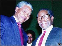 Nelson Mandela and Oliver Tambo in 1991