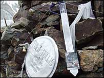 Memorial on K2 (photo by Chris Tullis)